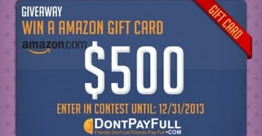 Win a $500 Amazon Gift Card from DontPayFull.com