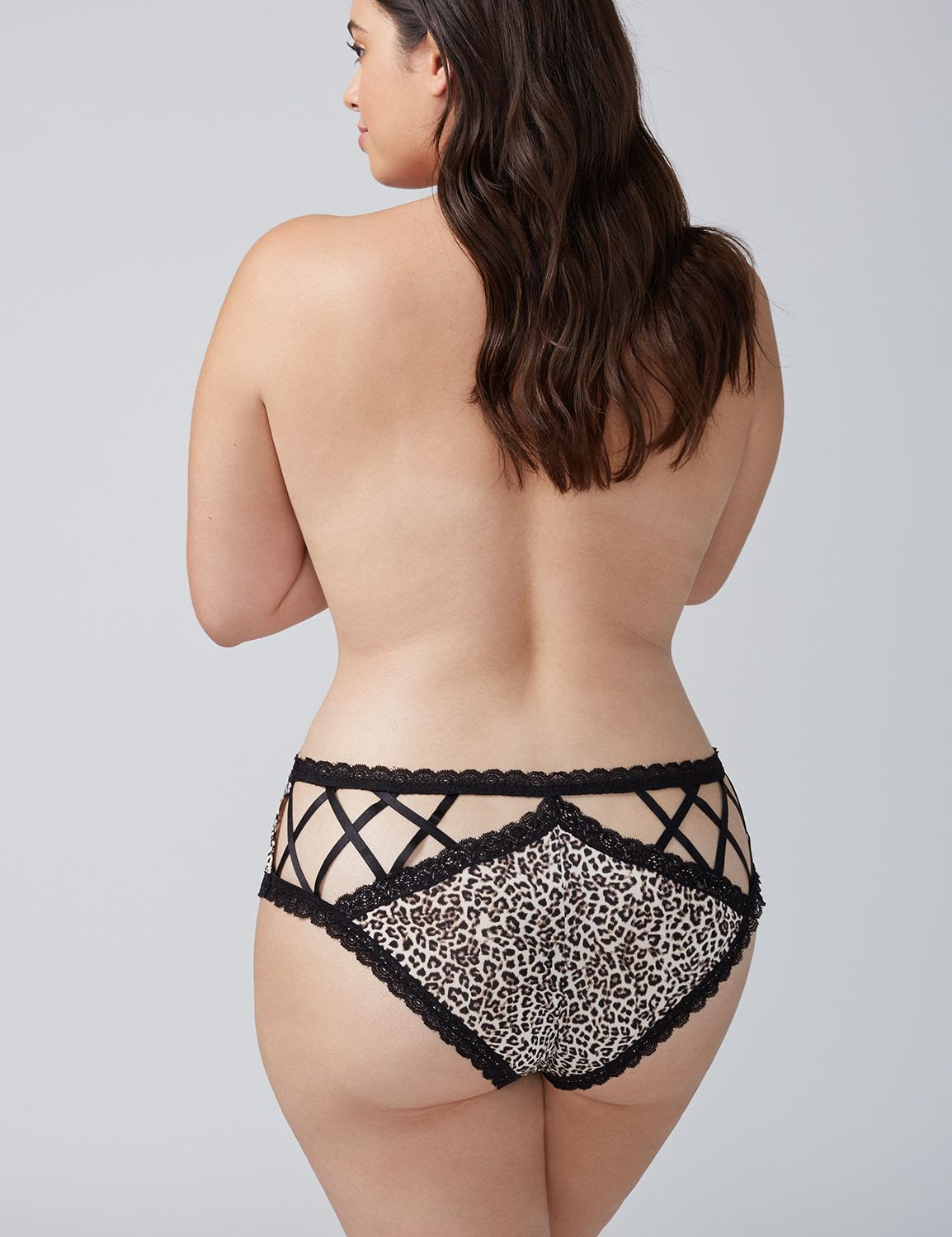 4276e67e1 Lane Bryant Women s Strappy-Back Cheeky Panty with Lace Trim 26 28  Sophisticated Animal ( RMNOnline)