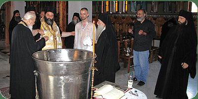Baptismal reception into the Orthodox Church  of Polish Academic Professor Paweł P. Wróblewski