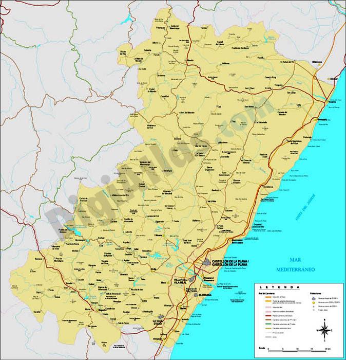 Mapa Provincia Castellon Municipios.Mapa Provincia De Castellon Mapa
