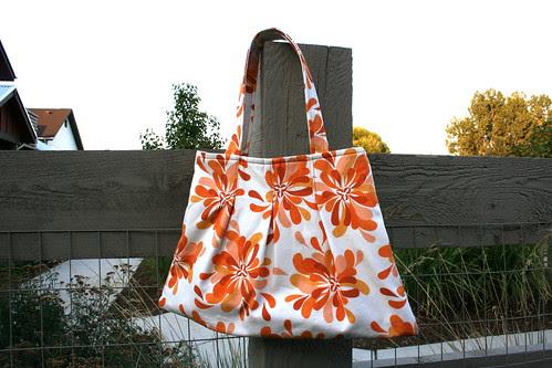 Pleated Orange Bag