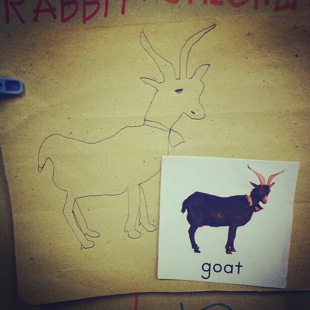 So today, I drew a goat in class. :))