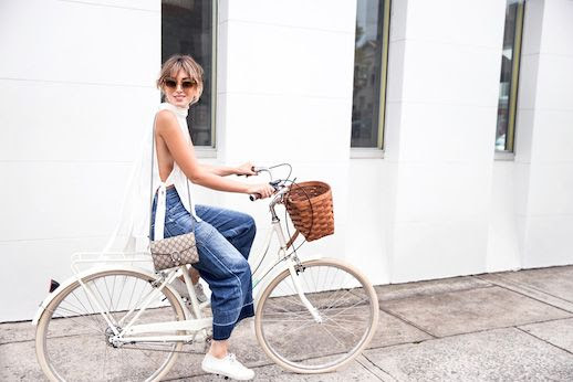 Le Fashion Blog Dipped Denim White Open Tank Gucci Bag White Sneakers Via The Chronicles Of Her