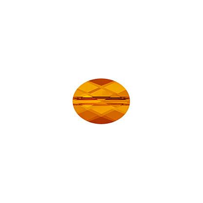 27750510060259 Swarovski Bead - 8 x 10 mm Mini-Oval (5051) - Tangerine (1)