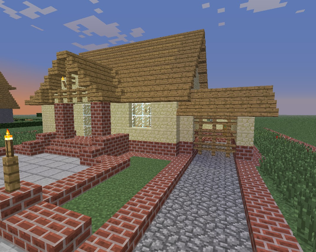 Little house with garage Minecraft Project