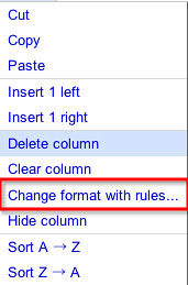 change format with rules