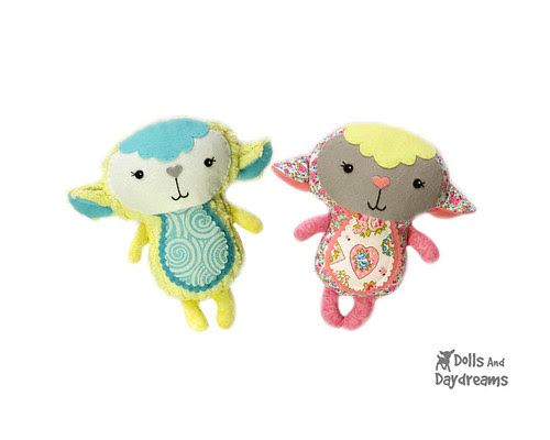 Baby Lamb softie Sewing Pattern