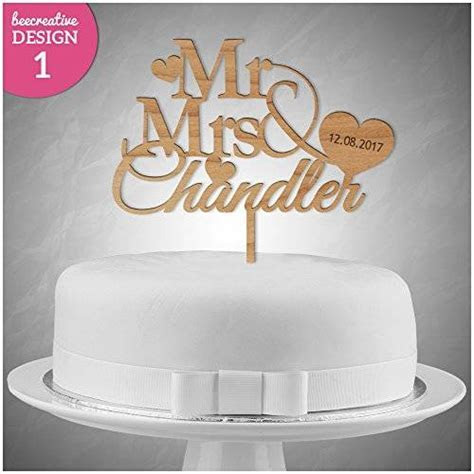 PERSONALISED Wedding/Anniversary WOODEN Cake Topper