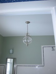 Downstairs bathroom, chandelier
