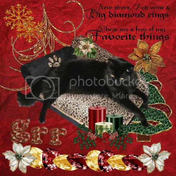 House Panther,Grr,Domestic Cat,Black Cat,Holiday Glitter