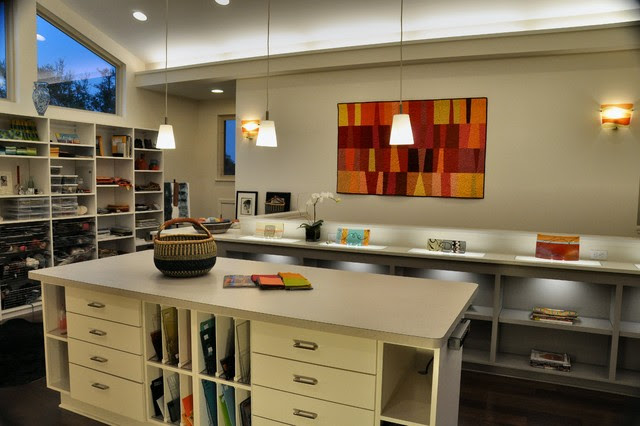 Sona's Art Studio - contemporary - home office - austin - by Paul ...
