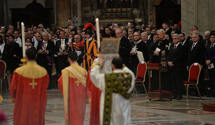 Համաշխարհային մամուլի անդրադարձը Վատիկանում մատուցված Պատարագին