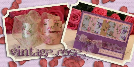 vintage rose ribbon