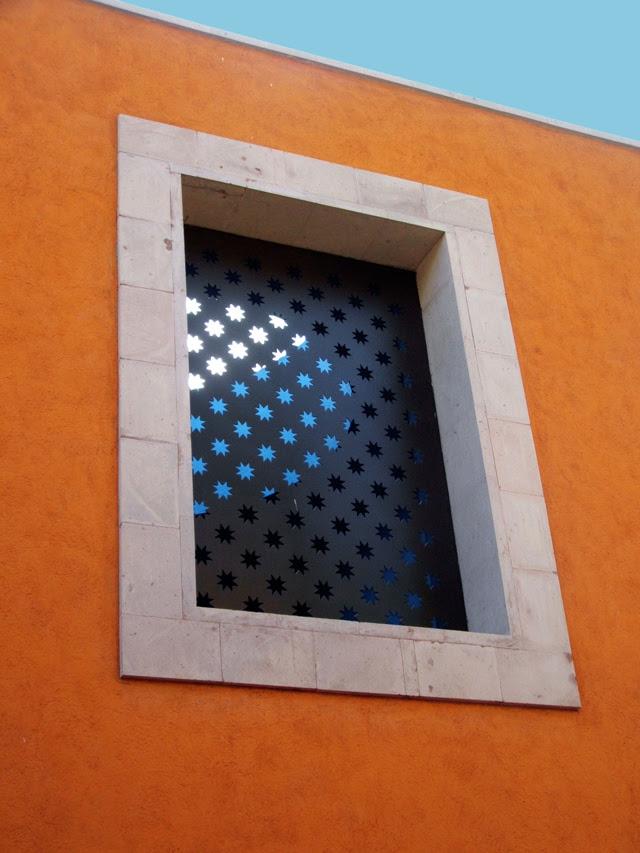 Star studded window in San Miguel de Allende