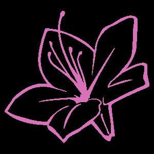 サツキの花7 花植物イラスト Flode Illustration フロデイラスト