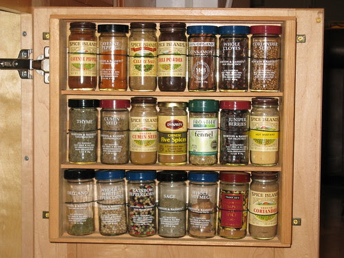 spice rack project - completed - closeup