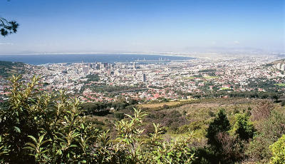 Cape Town - view from Table Mountain.