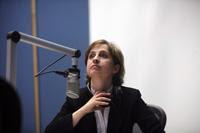 Carmen Aristegui, periodista. Foto: Miguel Dimayuga