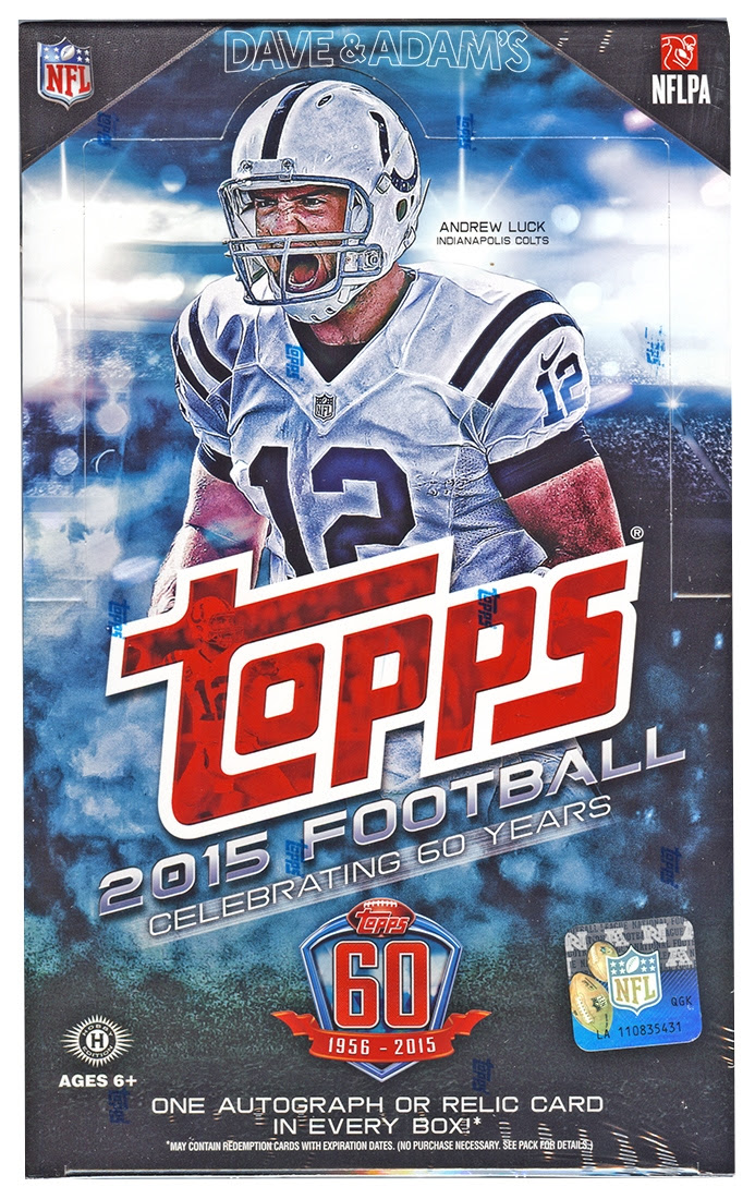 2015 Topps Football Hobby Box DA Card World