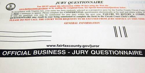 Official Business: Jury Questionnaire