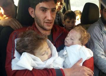 """Supervivientes del ataque químico en Siria: """"Se respiraba muerte"""""""