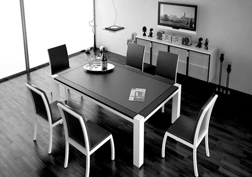 Impressive Ideas to Your Modern Black and White Dining ...