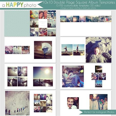 10x10 Instagram Square Album template 15 double page