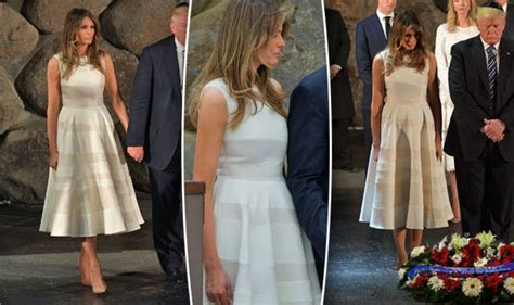 Melania Trump: First Lady pays respects to Holocaust