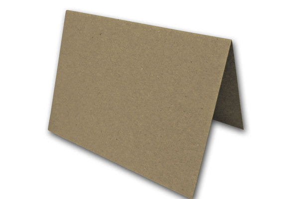 Blank Brown Bag A6 folded cards