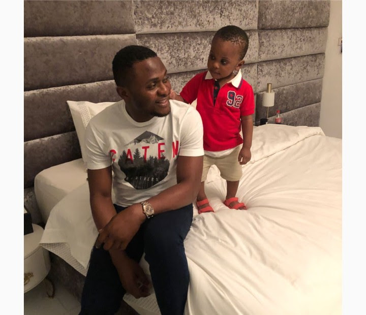 Ubi Franklin Pictured Goofing Around With His Son, Jayden In Cute Bedroom Shots