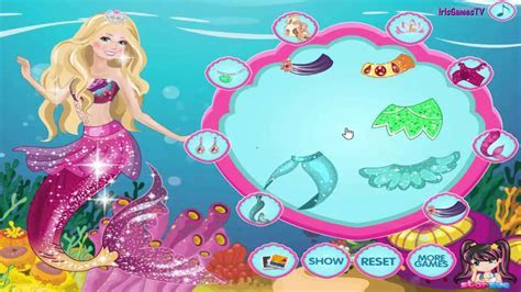 Barbie In Mermaid Tale 2 Dress Up Game for girls   By