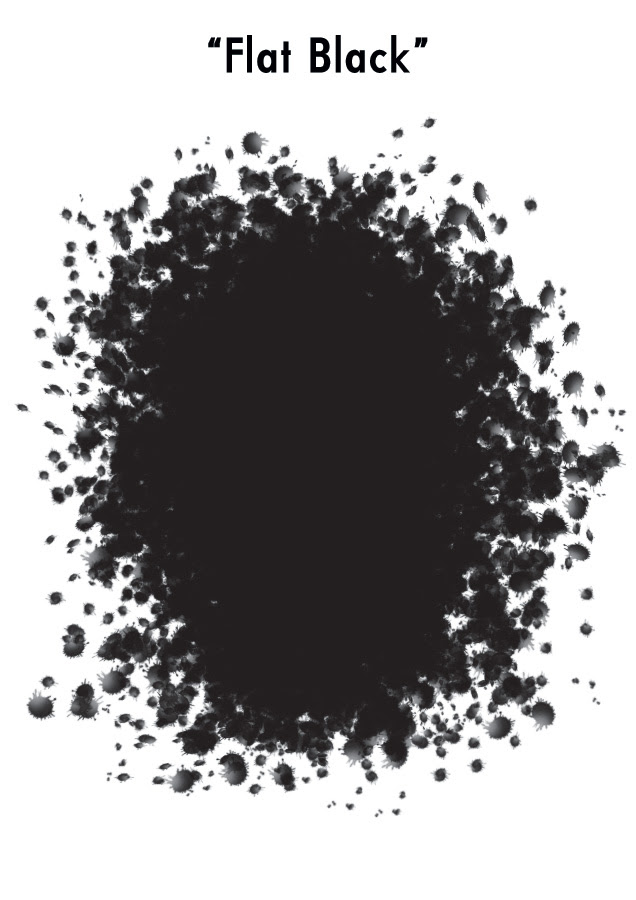 Example of 100% Flat Black Colour by Von Allan