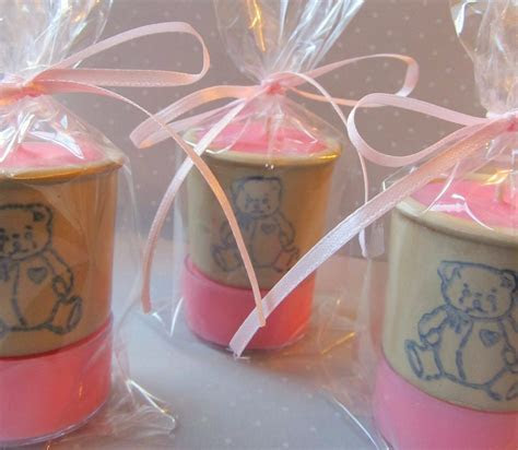 Hand Made 20 Baby Shower Favors,Soy Tealight Candles,Teddy