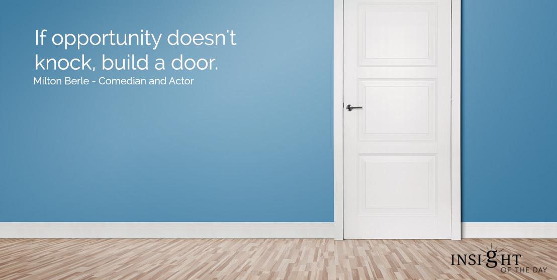Opportunity Knock Door Build Milton Berle Comedian Actor
