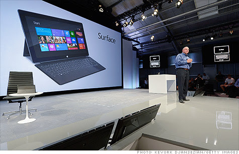 Microsoft's Surface tablet, unveiled by CEO Steve Ballmer at a press event, was designed in secret over the past several years.