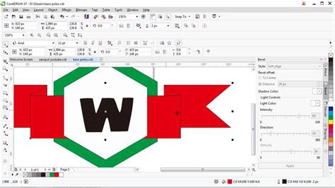tutorial  membuat desain logo  coreldraw