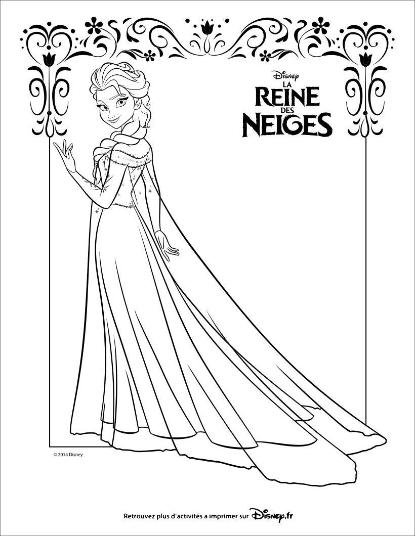 Coloriages La Reine Des Neiges Elsa Frhellokidscom