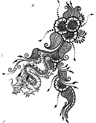 tattoo sketch mehndi henna style