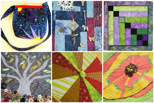 Project QUILTING Off Season Challenge It's All in Your Initials - Completed Pieces