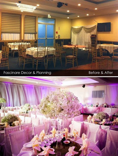 8 best Wedding Decoration Before and After images on
