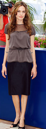 Angelina Jolie at Cannes in Elie Tahari