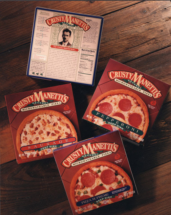 Crusty Manettis Pizza Packaging design 25+ Sour & Spicy Pizza Packaging Design Ideas