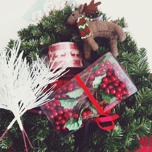 Wreath making time c/o Target.