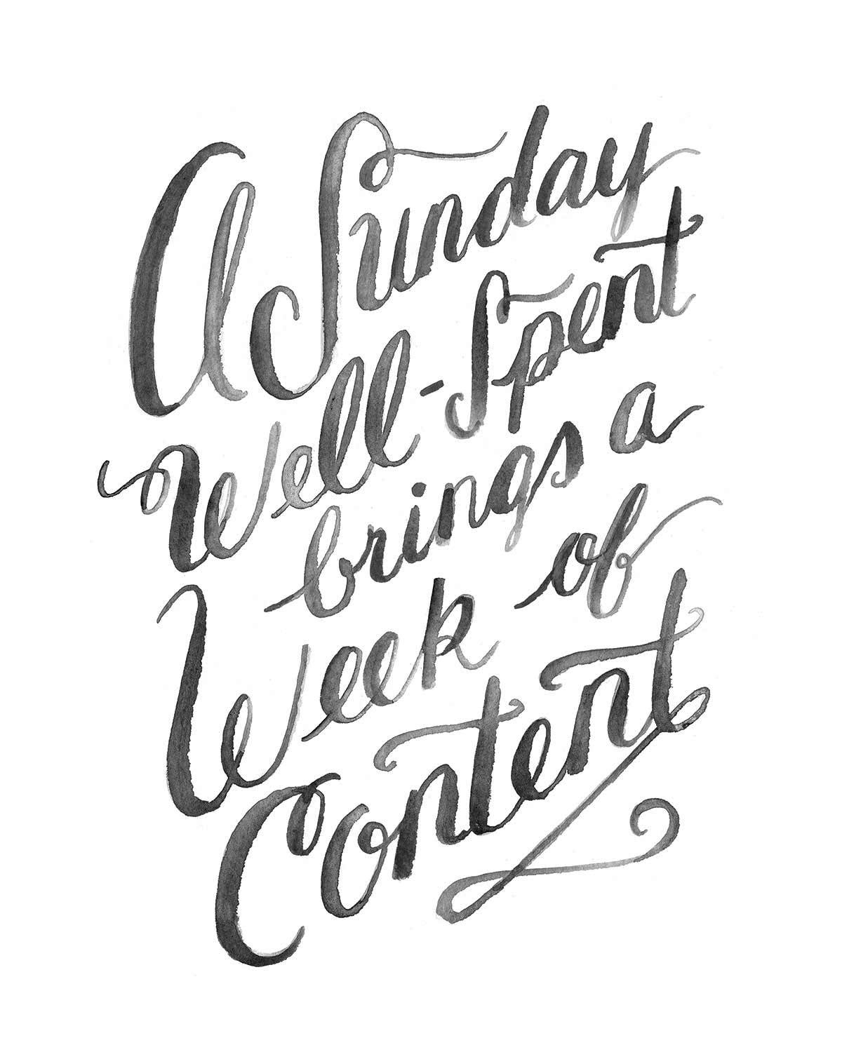 Image result for a sunday well spent brings a week of content