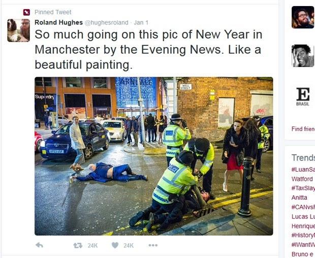 Bêbado que não larga a cerveja nem caído gera memes e vira hit na web