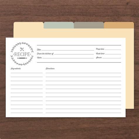 Rustic Love Recipe Cards by Basic Invite