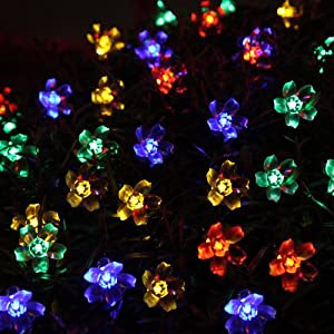 Amazon.com - Innoo Tech Flower Outdoor Fairy String Lights Solar ...