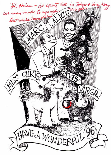 Marc Davis Christmas Card - 1995