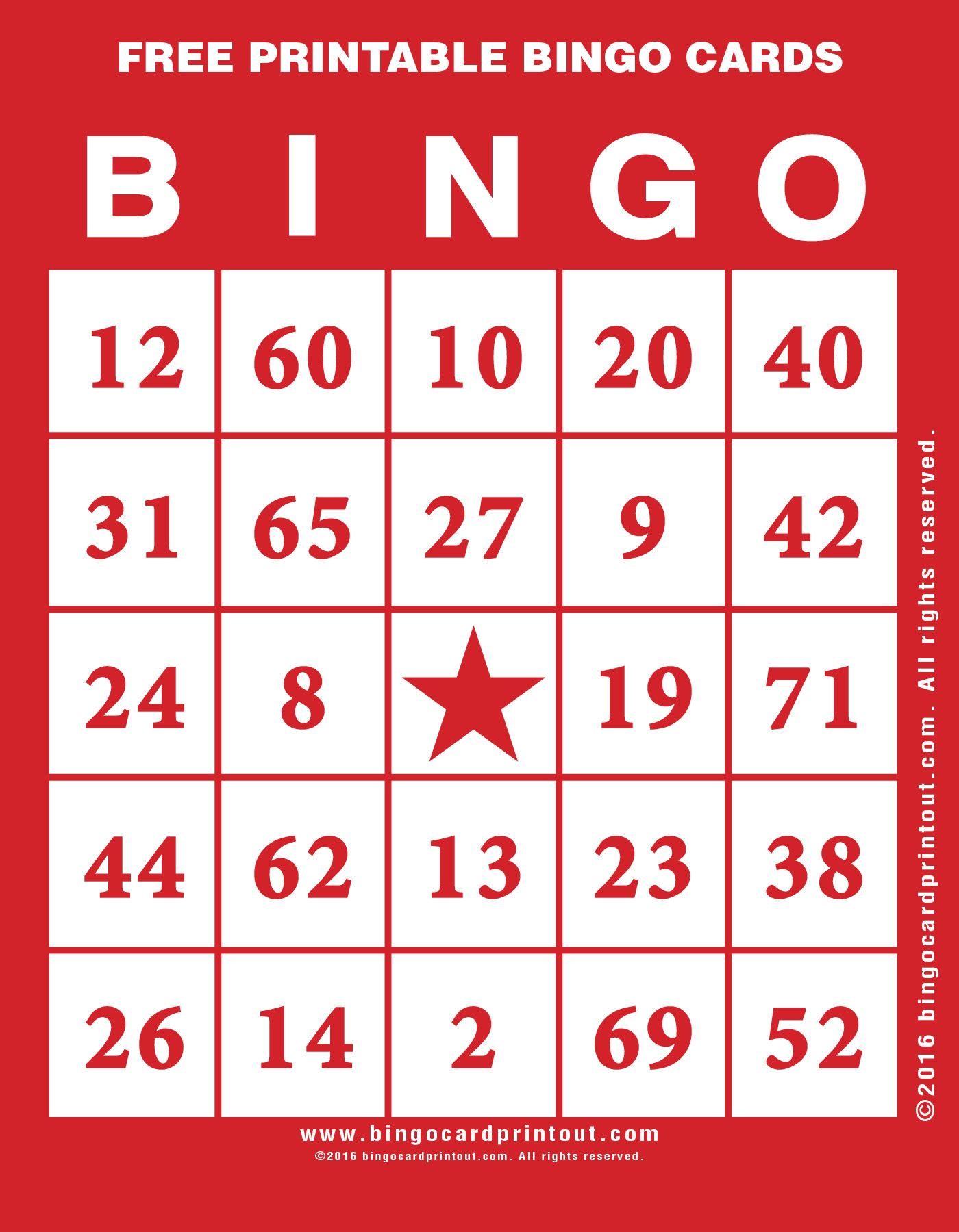 Bingo cards picture
