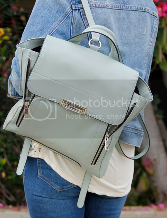 mint green Mossimo at Target Phillip Lim inspired Pashli backpack handbag, Mossimo at Target Phillip Lim Pashli look alike backpack, Pahli bag look for less
